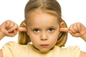 Girl not listening